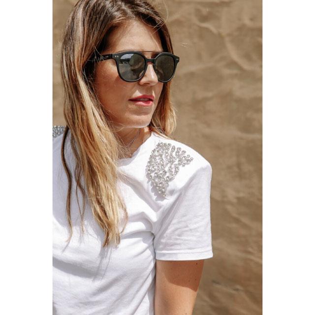 Camiseta Hombreras - Manga Corta-camisetas-mujer   Zara Islas Canarias