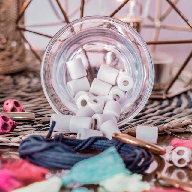 Perles De Céramique Em - Petit Sachet De 15 Pc