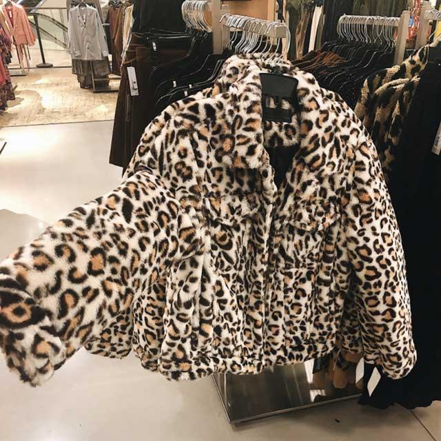 Blanknyc Leopard Teddy Jacket