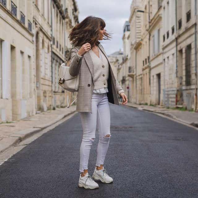 Dad Shoes En Cuir - Blanc - Femmes – Sacha