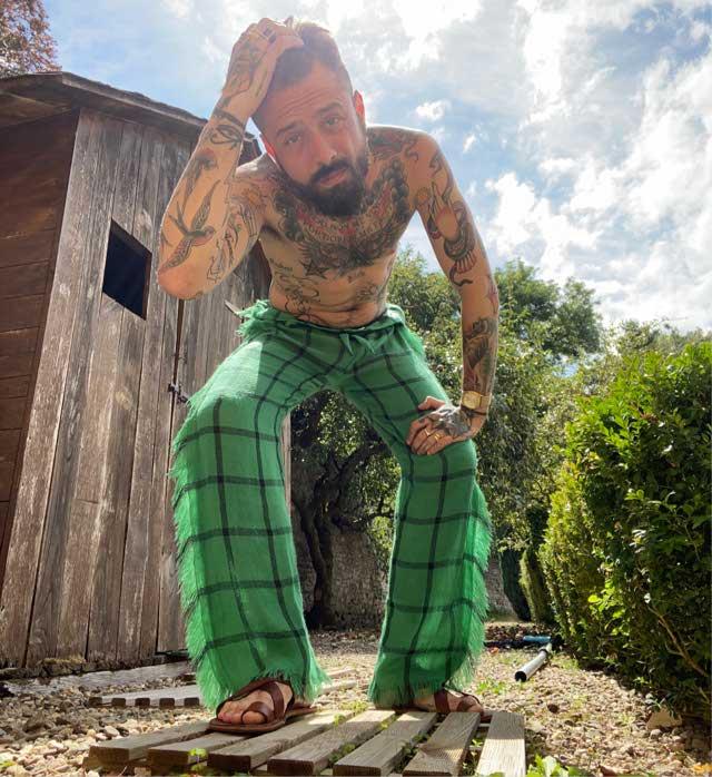 Fringe Green Summer Pants