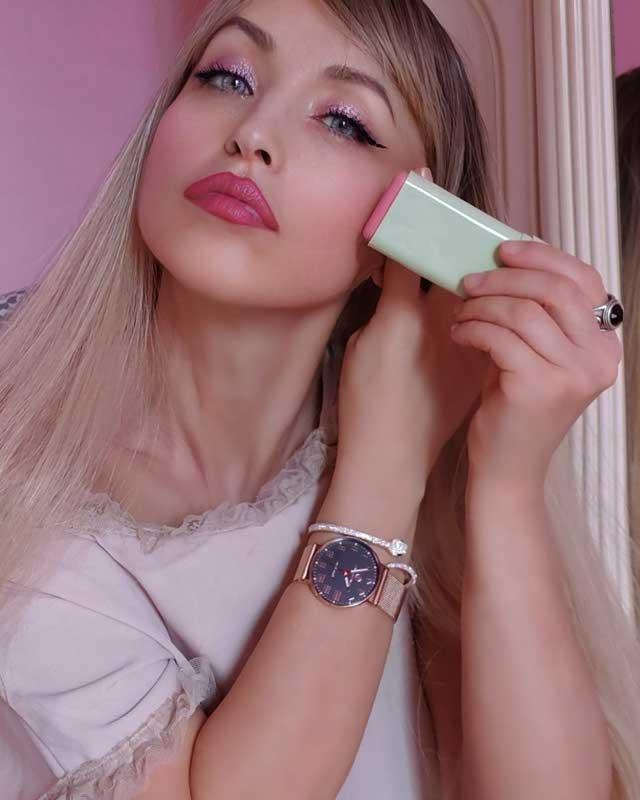 Morgan Visioli Fashion Blusa Donna Asimmetrica Con Plisse' Rosso