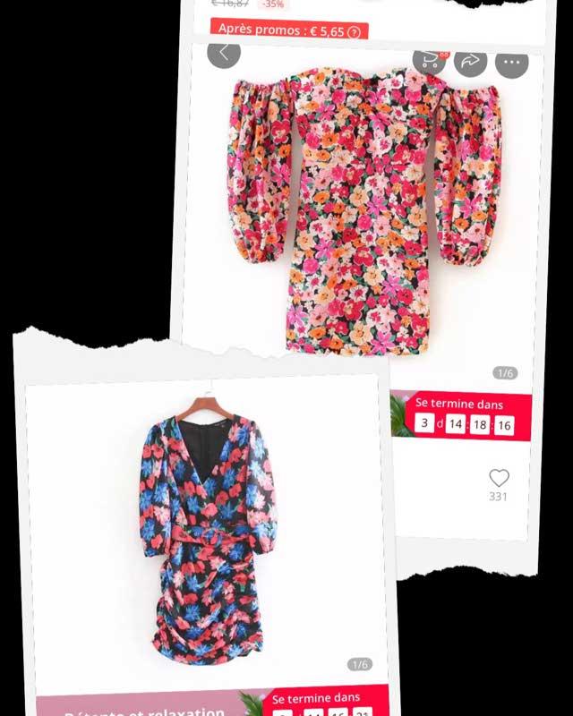 2020 Nouvelles Femmes Vacances Vent Impression Florale Mince Mini Robe Femme Épaules Nues Manches Bouffantes Vestidos Dos Robes Élastiques Ds3504 _ {categoryname} - Aliexpress Mobile