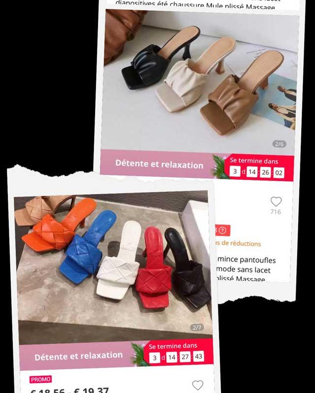 2020 Nouveau Été Mules Talons Pantoufles Armure Femmes Sandales Vintage Bout Carré Solide Vichy Talons Hauts Sandales Chaussures Femmes Nouveau _ {categoryname} - Aliexpress Mobile
